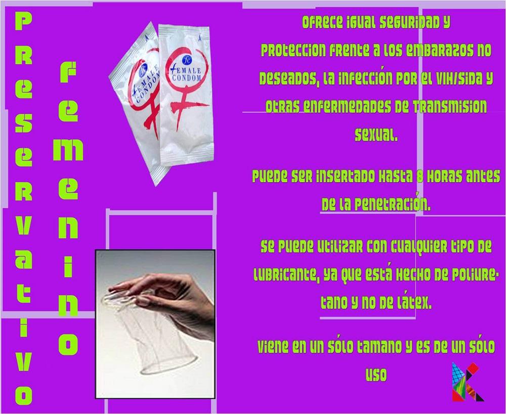 preservativo f